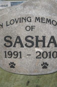 river rock custom pet memorial