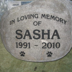 river rock custom pet memorial