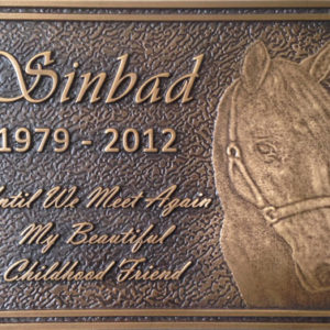 bronze image plaque
