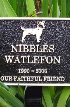 Pet garden plaque