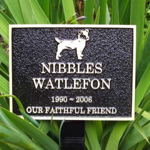 Pet garden plaque