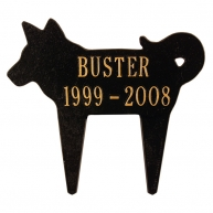 black gold dog marker