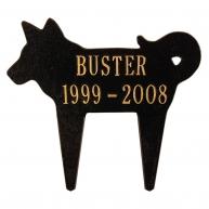 black gold dog marker