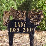 pet lawn marker angel dog