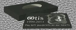 Pet cremation memorial laserable