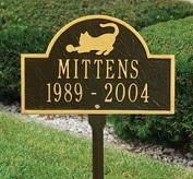 miniarch cat lawn marker